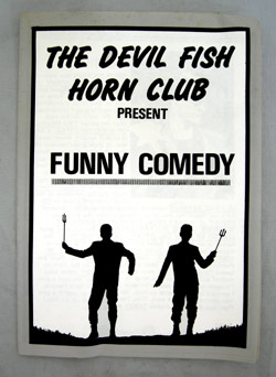 The DevilfishhornClub programme, Edinburgh 1984