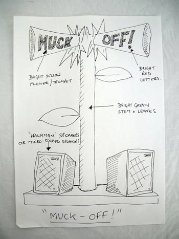 Design for Muck Off from the Blimey That's Good! Tour