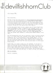 DFHC 'newsletter' January 1987